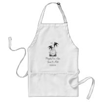 Vintage Bird Cage Happily Ever After Anniversary Adult Apron