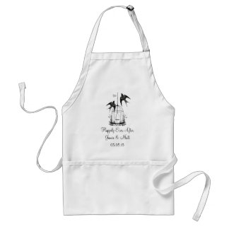 Vintage Bird Cage Happily Ever After Anniversary Aprons