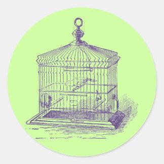 Vintage Bird Cage Sticker