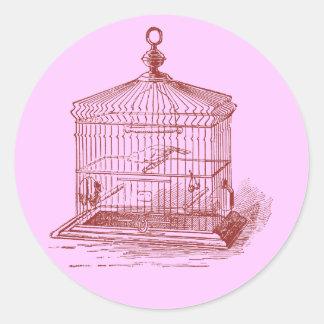 Vintage Bird Cage Stickers