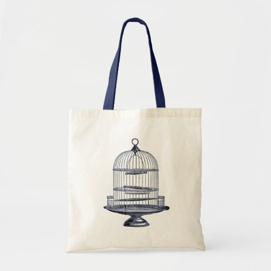 Vintage Bird Cage Tote Bag