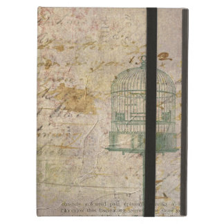 Vintage Bird Cage with old Writing Case For iPad Air