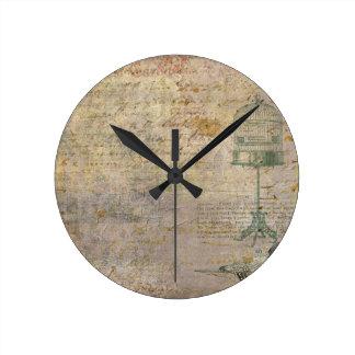 Vintage Bird Cage With Script Clocks