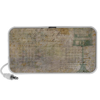 Vintage Bird Cage With Script Travelling Speaker