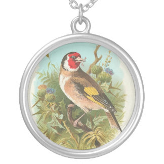 Vintage Bird Called A Goldfinch Necklace