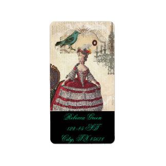 Vintage Bird Chandelier Boutique Marie Antoinette Custom Address Labels