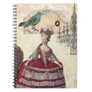 Vintage Bird Chandelier Boutique Marie Antoinette Note Book