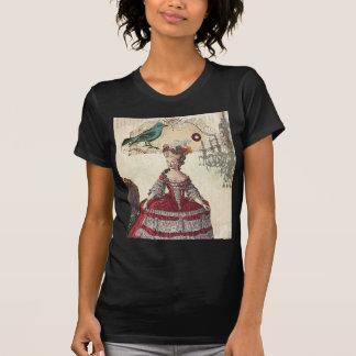 Vintage Bird Chandelier Marie Antoinette Paris Tshirt