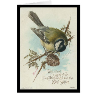 Vintage Bird Christmas and New Year Cards