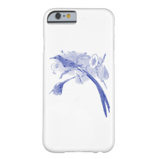 Vintage Bird Drawing | Blue | Sunbird Barely There iPhone 6 Case
