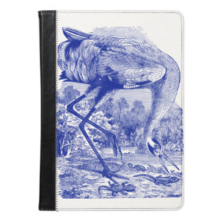 Vintage Bird Drawing | Blue | Whooping Crane iPad Air Case