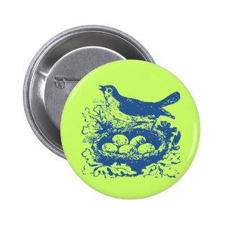 Vintage Bird Eggs & Nest Pin
