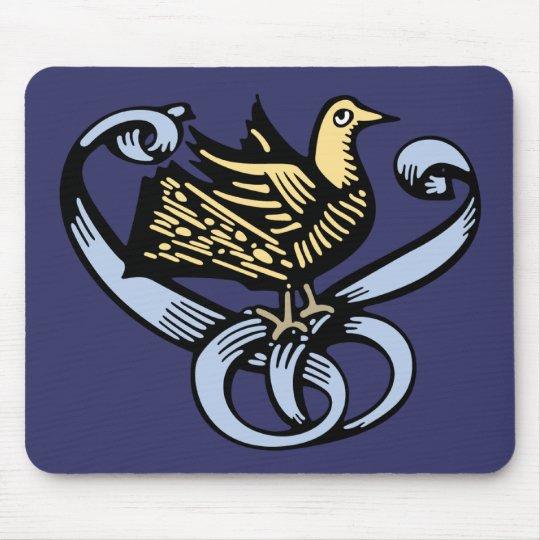 Vintage Bird Emblem Mouse Pad
