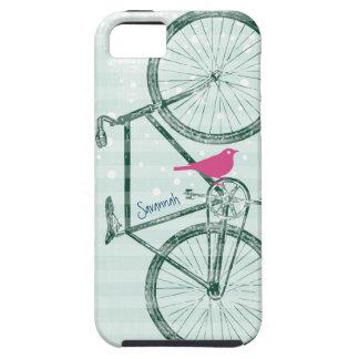 Vintage Bird Emerald Green Bike Pattern Iphone 5 iPhone 5 Cover