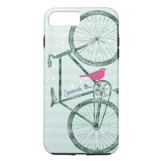 Vintage Bird Emerald Green Bike Pattern Iphone 5 iPhone 7 Plus Case
