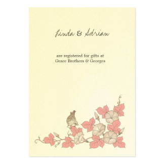 Vintage Bird Enclosure Cards Directions Reception Large Business Cards (Pack Of 100)