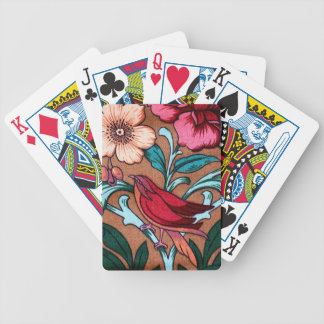 Vintage Bird Fabric Bicycle Playing Cards
