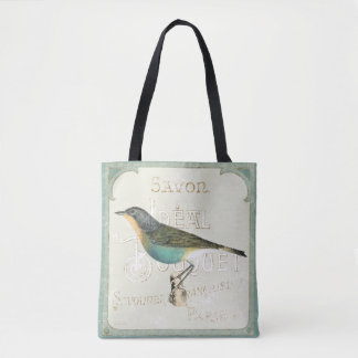 Vintage Bird Facing the Left Tote Bag