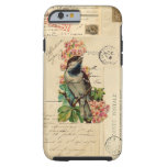 Vintage Bird Flowers French Postcards Case iPhone 6 Case