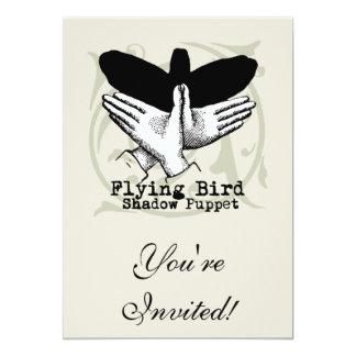 Vintage Bird Hand Puppet Shadow Games Card