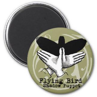 Vintage Bird Hand Puppet Shadow Games Refrigerator Magnet