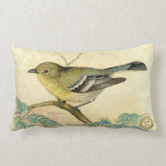 Vintage Bird Image Pillow