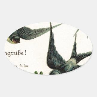 Vintage-Bird-Image-Swallows-Line-GraphicsFairy5. Colcomanias De Óval