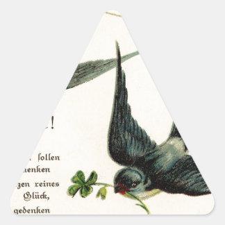Vintage-Bird-Image-Swallows-Line-GraphicsFairy5. Pegatina Triangulo