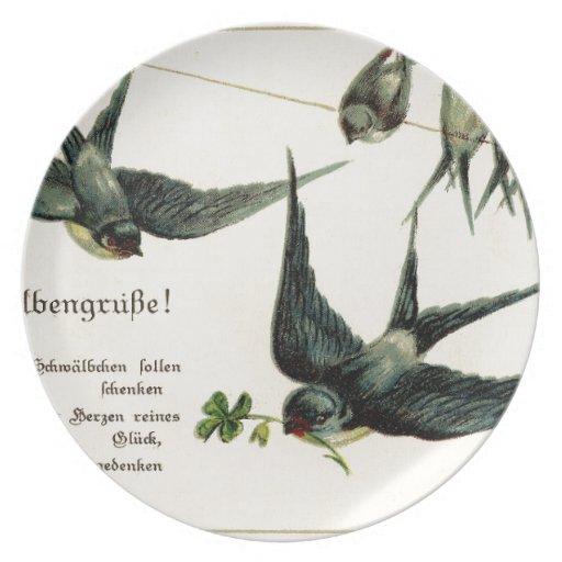 Vintage-Bird-Image-Swallows-Line-GraphicsFairy5. Plato De Cena