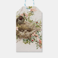 Vintage Bird in Nest Animal Print Gift Tags