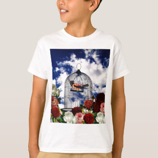 Vintage bird in the cage T-Shirt