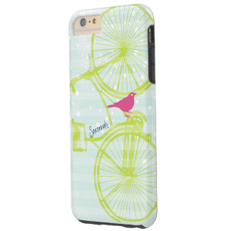 Vintage Bird Lime Green Bike Pattern Iphone 5 iPhone 5 Cover