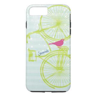Vintage Bird Lime Green Bike Pattern Iphone 5 iPhone 7 Plus Case