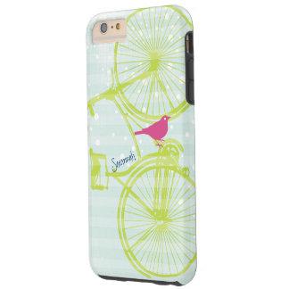 Vintage Bird Lime Green Bike Pattern Iphone 5 Tough iPhone 6 Plus Case
