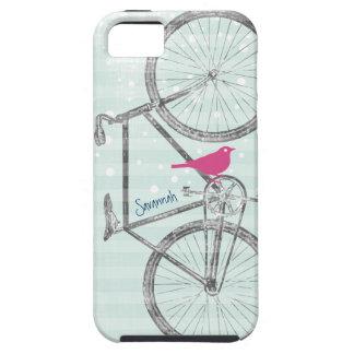 Vintage Bird Mint Green Bike Pattern Iphone 5 iPhone SE/5/5s Case