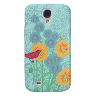 Vintage Bird Morning Glory iPhone Cover Samsung Galaxy S4 Case