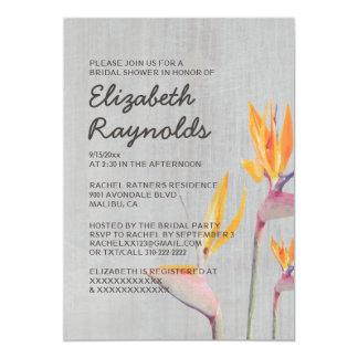 Vintage Bird of Paradise Bridal Shower Invitations