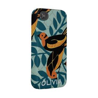 Vintage Bird Pattern Case Mate Iphone Case casematecase