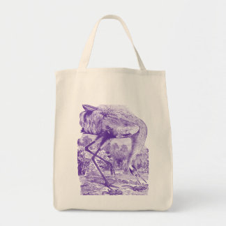 Vintage Bird Picture | Purple | Whooping Crane Tote Bag