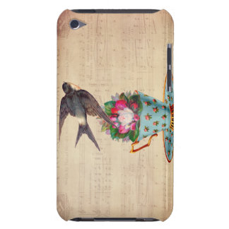 Vintage Bird, Roses, and Teacup Barely There iPod Case