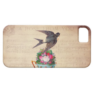 Vintage Bird, Roses, and Teacup iPhone 5 Cover