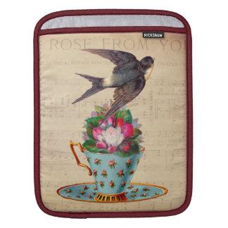 Vintage Bird, Roses, and Teacup iPad Sleeves