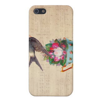 Vintage Bird, Roses, and Teacup Cover For iPhone 5