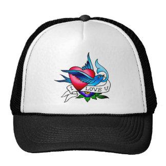 vintage bird tattoo trucker hat