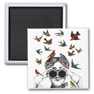 vintage bird watching gifts for twitchers, magnet