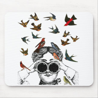 vintage bird watching gifts for twitchers, mouse pad