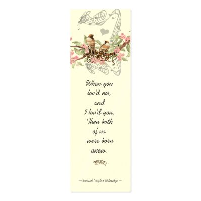 Vintage Bird Wedding Tags Double-Sided Mini Business Cards  Pack Of 20
