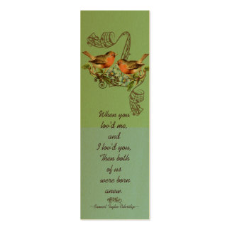 Vintage Bird Wedding Tags Double-Sided Mini Business Cards (Pack Of 20)