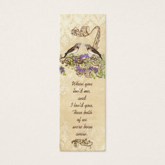 Vintage Bird Wedding Tags or Insert Website Cards