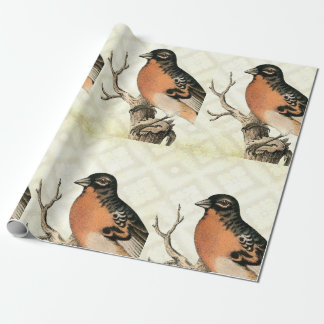 Vintage Bird Wrapping Paper